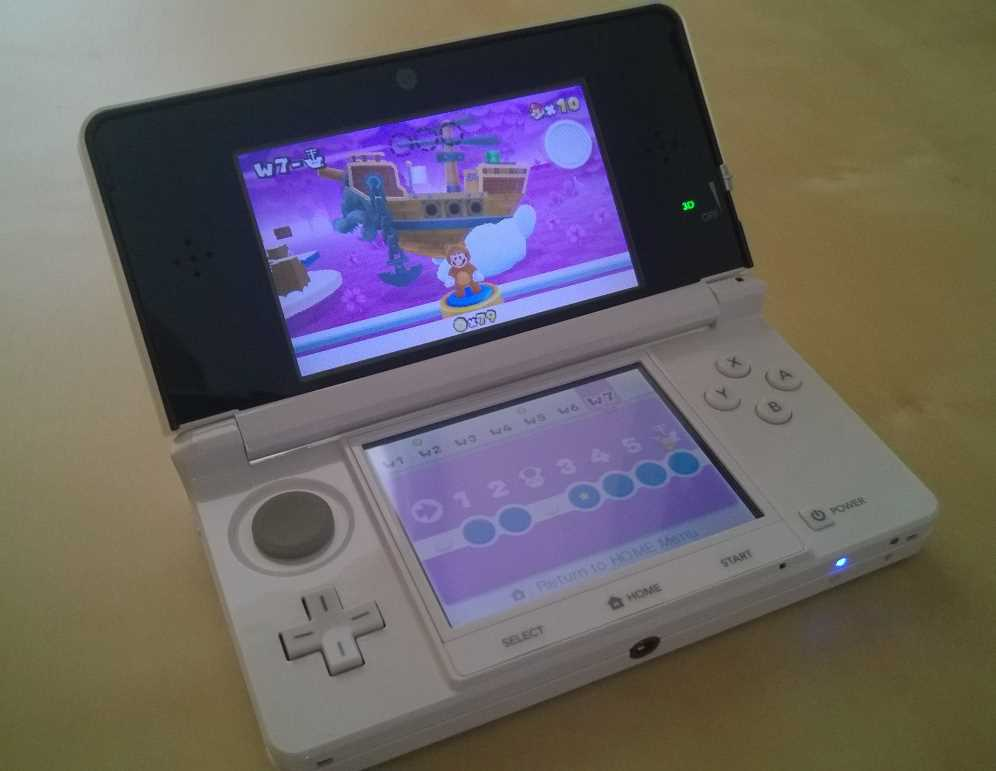 Nintendo 3DS console purchased in 2012 — photo taken in 2017